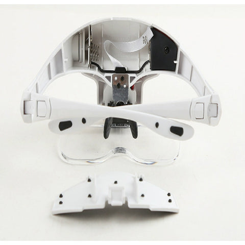 Head Magnifying Glasses with 5 Detachable Lenses
