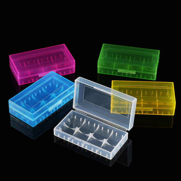 1pc  Hard Plastic Battery Protective Storage  For 18650/18350/16340