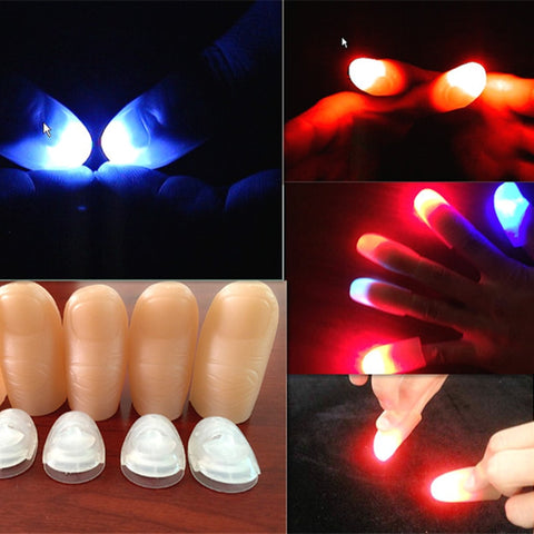 2pcs Funny Party Light Thumbs Props Fingers Trick Appearing Light Close Up Lamp