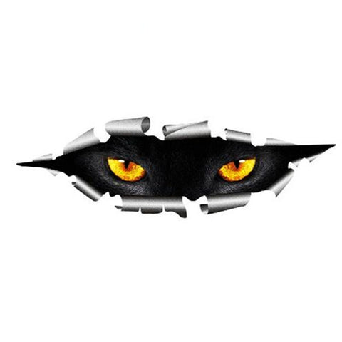 Funny 3D Car Styling Cool Cat Eyes Peeking Car Sticker Waterproof