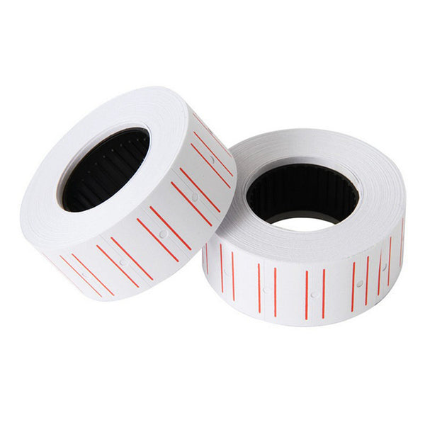 10pcs Adhesive Price Labels Paper Tag Price Label Sticker Single Row for  Price Gun Labeller 21mmX12mm Suitable for grocery
