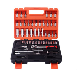 53pcs Automobile Motorcycle Car Repair Tool Box