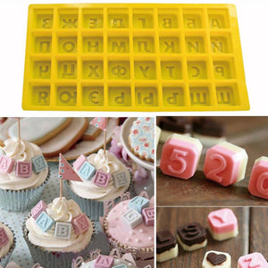 1Pcs Russian Alphabet/Letters Silicone Mold Jelly & Candy Pudding