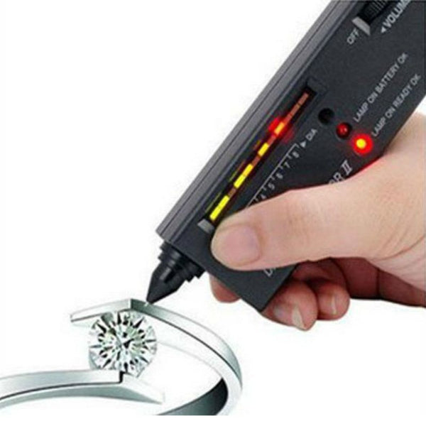 1pc V2 Professional High Accuracy Diamond Tester Gemstone Gem Selector Jewelry Watcher Tool LED Diamond Indicator Test Pen