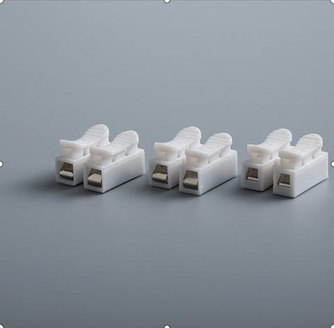 10Pcs/lot 2p Quick Connector Cable Clamp Terminal