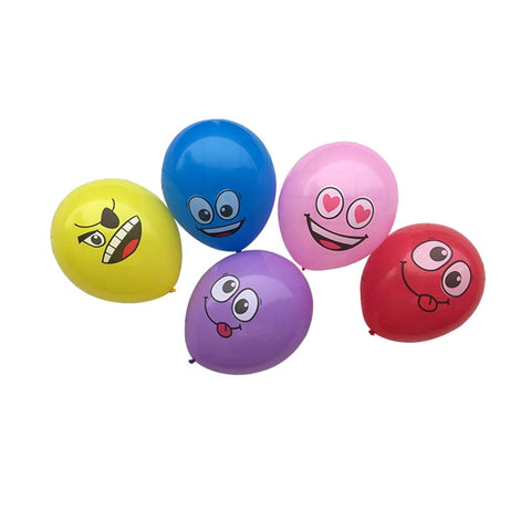 Printed Big Eyes Smiley Latex Balloons Decorations