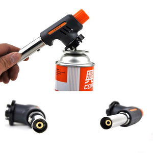 Gas Blow Torch Flamethrower Multi-functional Metal Ignition Flamethrower Butane Burner Ignition Baking Welding BBQ Camping