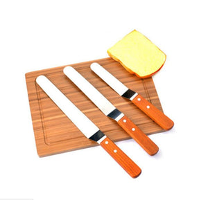 6/8/10 Inch Stainless Steel Icing Cake Spatula With Wood Handle