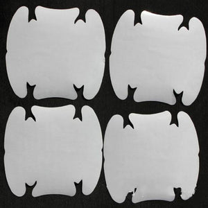 4pcs/set Invisible Car Door Handle Scratches Protector stickers Films