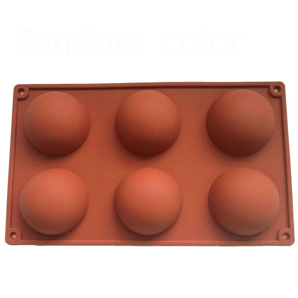 6 DIY Cavity Half Sphere Circle Silicone Chocolate Cupcake Cake Mold Cake Baking Pan Decorative Cake Mould Tool
