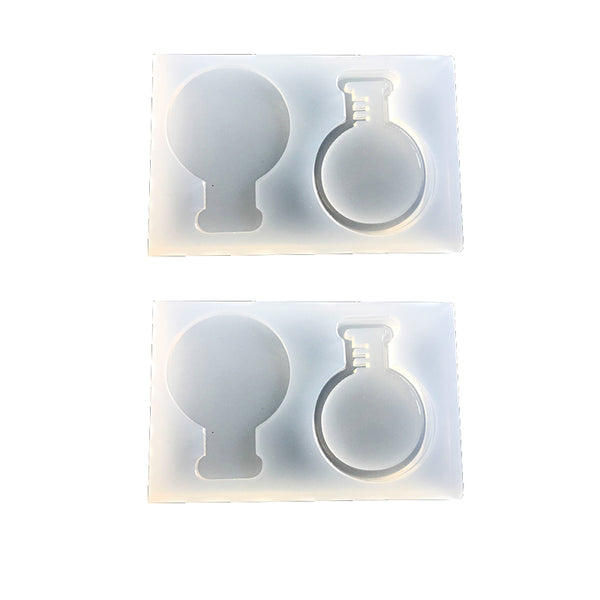 Water Injection Hollow Semi-circular Section Flask Full Transparent DIY Decorative Craft Jewelry Making Resin Molds for Jewelry