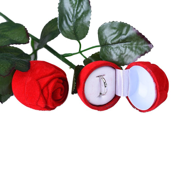 Romantische Rose Engagement Wedding Earrings Hanger Sieraden Display Geschenkdoos Rose Ring Box Organizer Gift Box