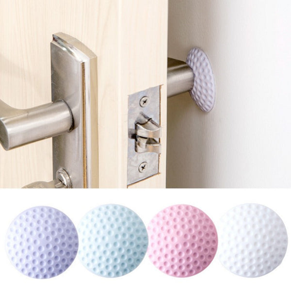 2Pcs/set Wall Thickening Mute Door Suspension Golf Modelling Rubber Fender Handle Door Lock Protective Pad Protection Wall Sticker