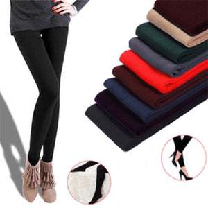 Fashion Casual Fall/Winter Multicolor Women Stretch Pants Leggings Thick lined Fleece Skinny Slim Leggings Clothing