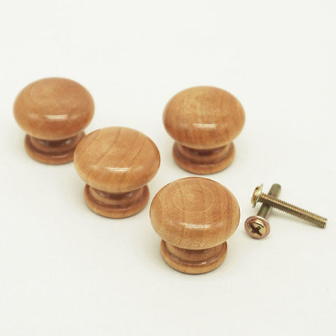 Natural Wooden Cabinet Drawer Wardrobe Door Knob Pull Handle