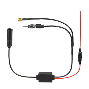 Universal 12V Auto Car Radio FM Antenna Signal Amp Amplifier Booster