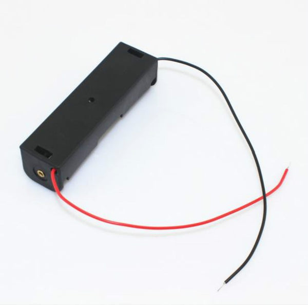 Battery  Holder For 1 x 18650 Black With Wire Leads