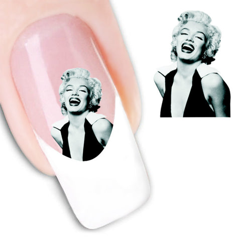 Design Water Transfer Nail Art Stickers Decal Marilyn Monroe