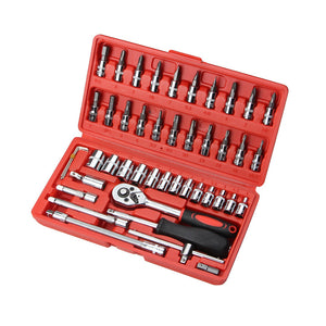 Car Repair Tool 46pcs 1/4-Inch Socket Set