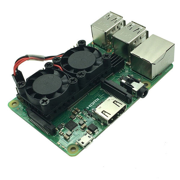 52Pi Version 2.0 Dual Fan Heatsink with Double Cooling Fans