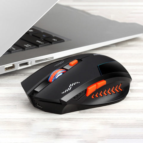 Wireless Gaming Mouse 2400DPI Optical Mute
