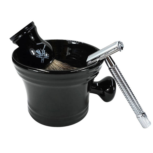 Male Face Cleaning Man's Shaving Mug Bowl with Handle Soap