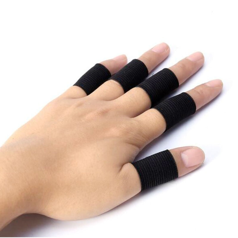 10Pcs Finger Protector Sleeve Support Basketball Sports
