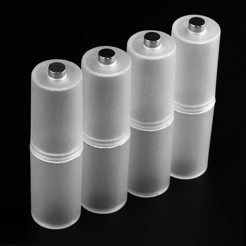 Translucent AAA to AA Holder Case Battery Converter