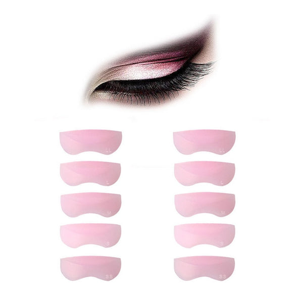 5Pairs 5 Sizes Silicone Eyelash Perming Curler Curling False Fake Eye Lashes Shield Pad Curlers for Eyelashes