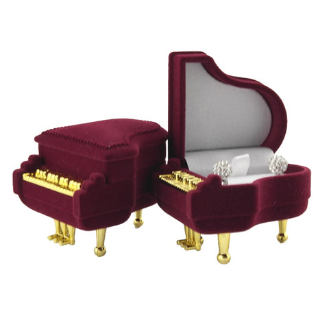 New Arrival Hot Sale Piano Shape Storage Wedding Ring Box