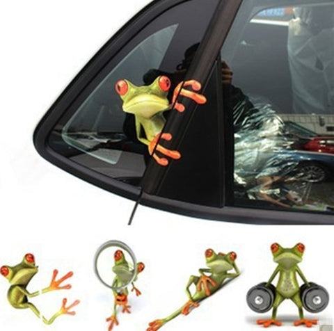 1 Piece 3D Frog Funny Car Stickers Truck Window
