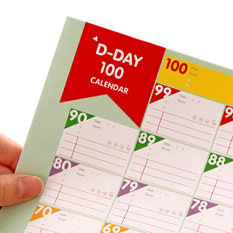 100 Day Calendar Planner for Kids