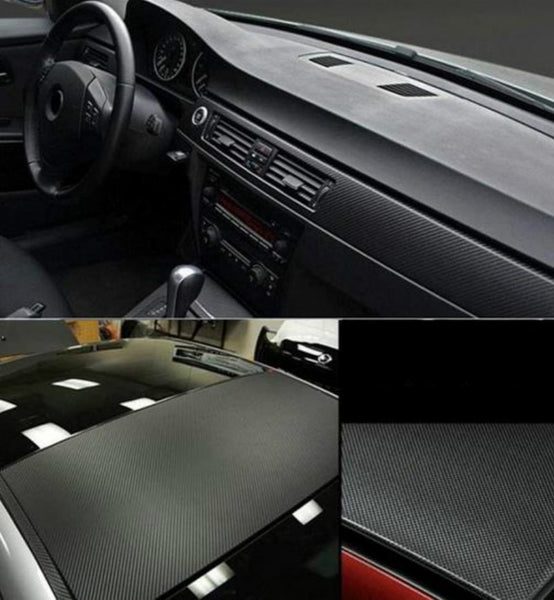 30cmx127cm 3D Carbon Fiber Vinyl Car Wrap Sheet Roll Film Car Stickers