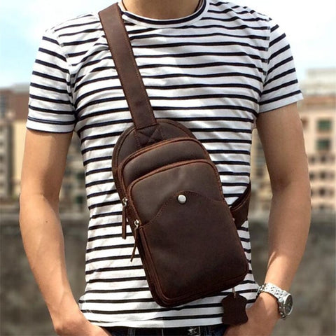 Male Messenger Shoulder Bags  Hidden Chest Pack Sling Bag