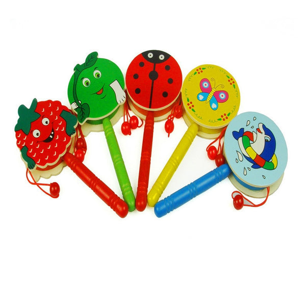 Wooden Rattle Baby Early Childhood Child