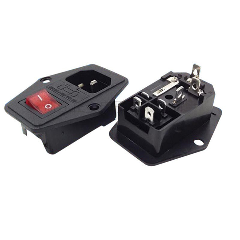 15A 250V Power Switch AC 3pin AC Power Socket for 3D Printer