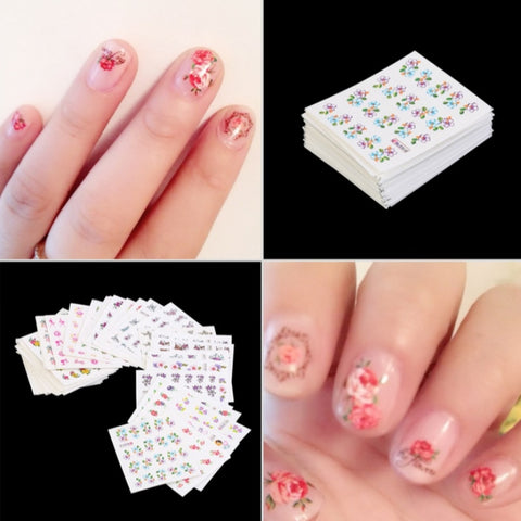 Nail Art Stickers Polish Watermark Decals