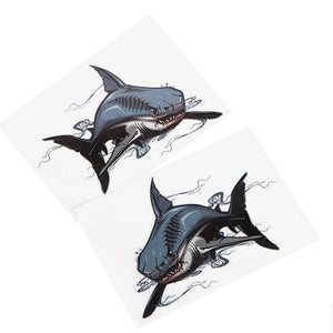 2Pcs/Set Shark Car Stickers and Decals Auto Motorcycle Sticker