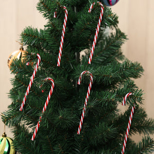 6pcs/pack Candy Crutch Pendant Home Christmas Tree Decor