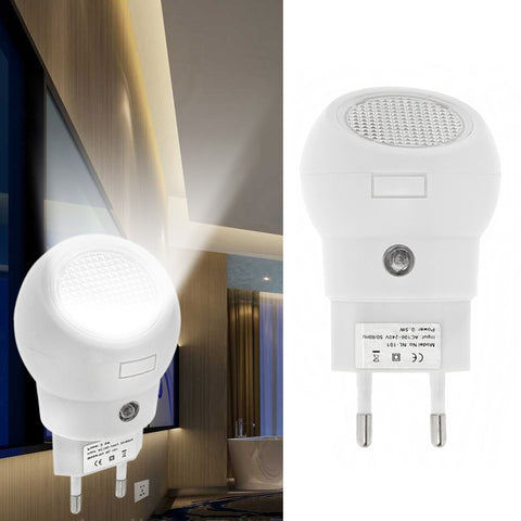 LED Night Light 360 Rotation EU Plug And Play With Light Sense Automatically Switch On Or Off