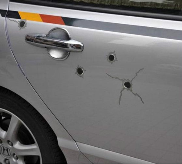 32 Bullet Hole Shot Hole Orifice Sticker For Vehicle Auto Windows Hot