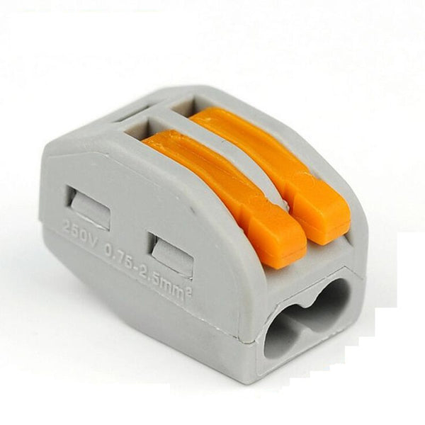 Compact Wire Wiring Connector 2 Pin Conductor Terminal Block