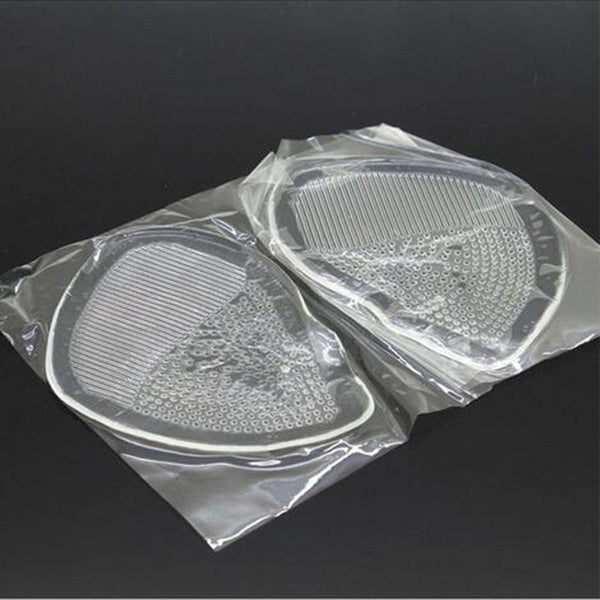 Women Transparent Forefoot Pad Silica Gel Half Yard Pad High-heeled Shoes Pad Non-slip Cushion