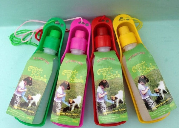 Foldable Plastic Feeding Bowl Water Bottle
