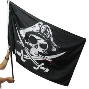 Skull and Crossbones Swords Pirate Flags