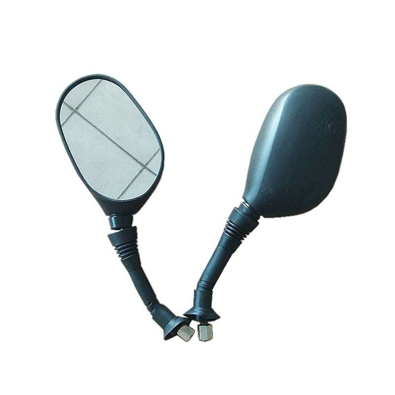 8mm Motorcycle Mirrors Scooter Side Rearview Mirror Black Rearview