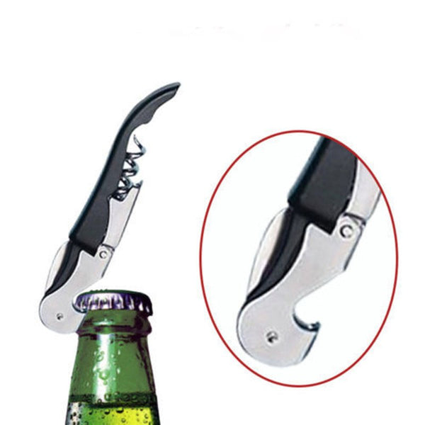 New Multifunctional Stainless Steel Metal Corkscrew Wine Bottle Cap Beer Opener Waiter's Friend Wine Opener