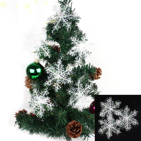 Artificial Snowflake Sheet Ornament Christmas Tree