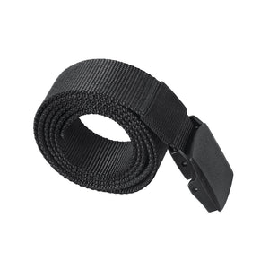 Men Belt Snap Outdoors Casual Military Training Anti Allergy Plastic Buckle Without Metal Belt Polyester Fiber Belt