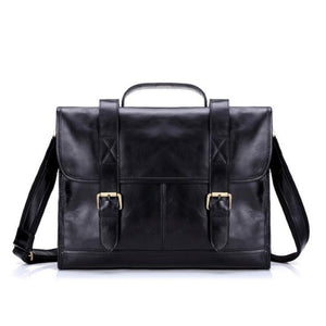 Genuine Leather Bag Men Briefcases
